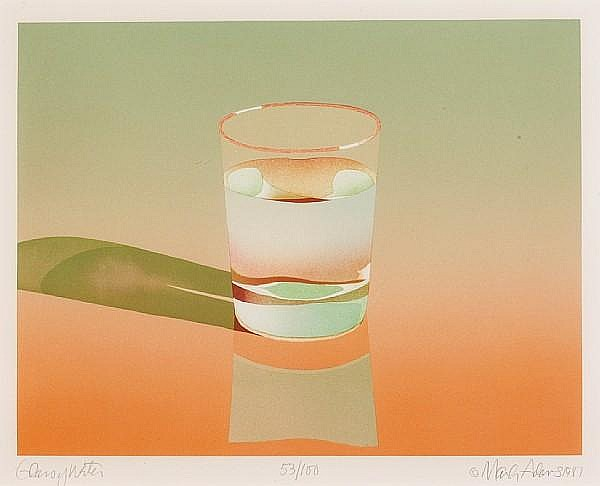 Mark Adams (American, born 1925); Glass of Water;