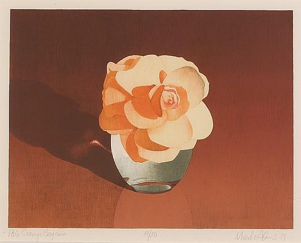 Mark Adams (American, born 1925); Pale Orange Begonia;
