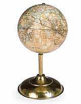A 6-inch terrestrial table globe H.B. Nims & Co.,