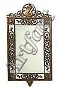 An Oscar Bach wrought-iron and cast-bronze mirror circa 1925, Oscar Bach, Click for value
