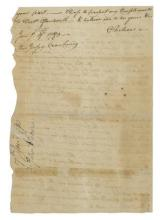 LORD STIRLING'S ATTEMPT ON STATEN ISLAND.- VICKERS, J[OHN].- Autograph Letter Signed (