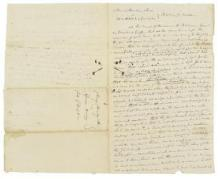 FREE AFRICAN-AMERICAN ABDUCTED INTO SLAVERY JUST AFTER YORKTOWN.- Manuscript Document, 3 pp (conjoining leaves), legal folio, [Baltimore], May 14, 1816, a