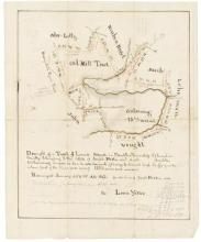 PENNSYLVANIA OIL BOOM.- YETTER, LOUIS.- Manuscript map,