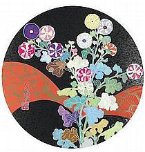 TAKASHI MURAKAMI (BORN 1962)  Kansei: Fresh Blood; Kaikai, Kiki, DOB, and POM atop the Mound of