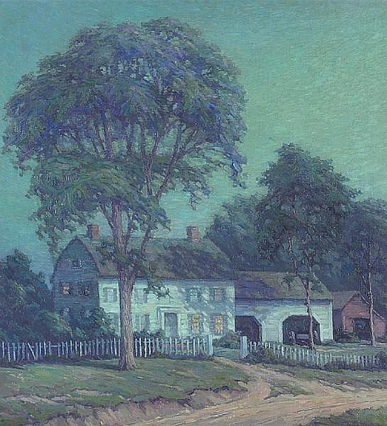 Arthur Gibbes Burton (American, 1883-1969) August Night 32 x 30in