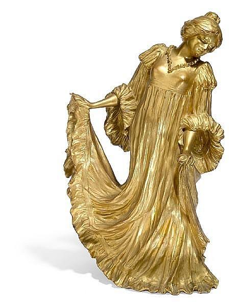 Ernest Wante (Belgian, 1872-1960) Dancer, circa 1900