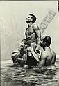 Tom Bianchi (American); Three males in swimming pool;