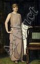 Franz von Stuck (German, 1863-1928) A portrait of Marianne Mechler 65 1/4 x 41in (165.7 x 104.1cm), Franz von Stuck, Click for value