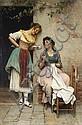 Eugen von Blaas (Austrian, 1843-1931) The love letter 33 1/4 x 22in (84.4 x 55.9cm), Eugene Von Blass, Click for value