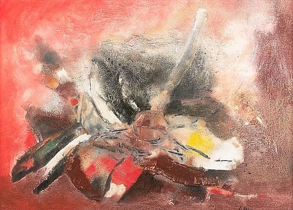 Edmondo Bacci (Italian, 1913-1978) Avvenimento #295, 1958 39 9/16 x 55 5/16in (100.5 x 140.5cm)