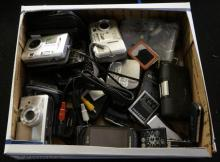Box Lot Of Phone Cameras And More