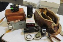 Vintage Camera's Lenses& Movie Camera