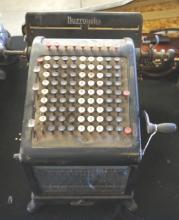 Early American Antique Burroughs Adding Machine
