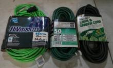 3 Brand New Extension Cords