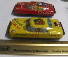 2- 1950's Tin Toy Friction Cars