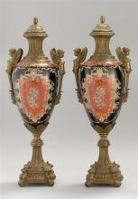 19th C. Pair of French Porcelain Urns