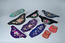 TEN (10) CHINESE SILK EMBROIDERIES