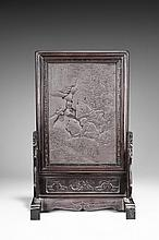 A DUAN STONE 'FIGURE' TABLE SCREEN