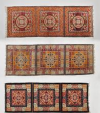 A SET OF THREE BUDDHISM WOOL RUGS