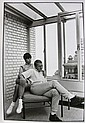 CLAXTON W. - Steve McQueen avec sa femme Neile Adams.