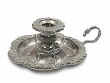 Bugia in argento sbalzato, Napoli XIX secolo