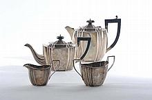 Servito da tè e caffè in argento, Bihringhan 1869