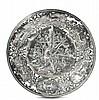 Grande piatto da parata in argento sbalzato e traforato, XVIII secolo