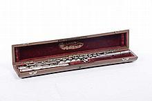 Flauto traverso in argento con scatola originale