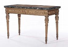 Consolle in legno intagliato e dorato, Toscana fine XVIII secolo
