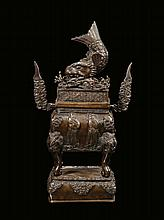 A bronze censer with