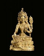 A gilt-bronze Syama-Tara, China, Qing Dynasty,