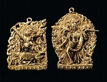 Two small gilt-bronze