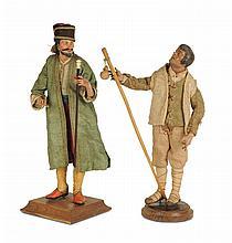 Pastore e Georgiano con bastone, Napoli, XVIII/XIX secolo
