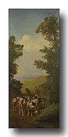 WOUTERMAERTENS EDOUARD 1819-1897 Troep jachthonden