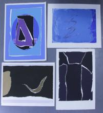 Adja Yunkers. Lot of 4 Abstract Lithographs. (P1)