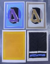 Adja Yunkers. Lot of 4 Abstract Lithographs (P36).