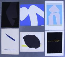 Adja Yunkers. Lot of 6 Abstract Lithographs. (P10)