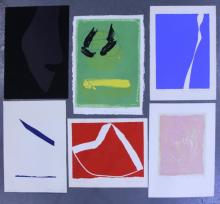 Adja Yunkers. Lot of 6 Abstract Lithographs. (P13)