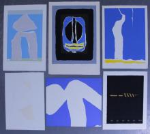 Adja Yunkers. Lot of 6 Abstract Lithographs. (P31)