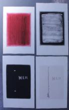 Adja Yunkers. Lot of 4 Abstract Intaglio Prints