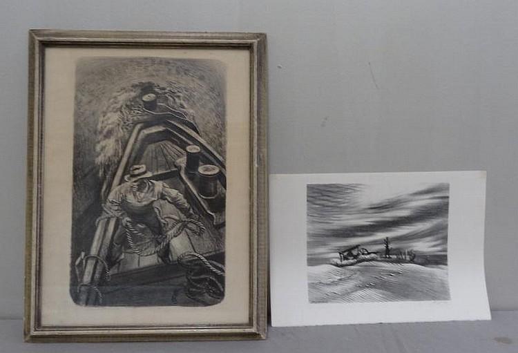 JONES, Joe. Pair of Lithographs. Joe Jones, American, 1909 - 1963.