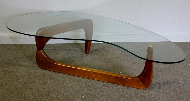 Midcentury Oversized Noguchi Style Coffee Table