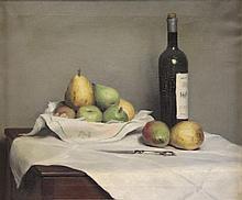 PLEISSNER, Ogden. Oil on Canvas. Still Life with