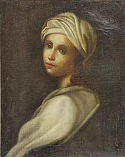After Guido Reni. Oil on Canvas. Woman in Turban.