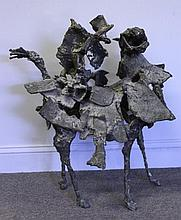 FARR, Fred. Modernist Bronze Standing Horse