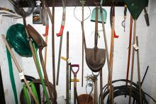 A Selection Of Garden Tools And Equipment