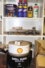 Motor Vehicle Lubricants, Tin Of Paint And Air Compressor Tools