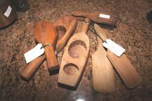 Vintage wooden butter pats & shortbread moulds