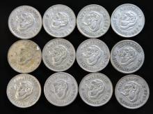 12 Australian Silver shillings