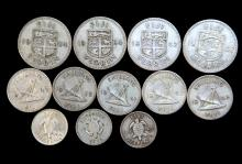 A bag of coins of Fiji including silver